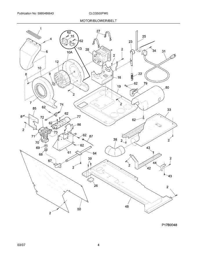 Diagram for CLCG500FW0