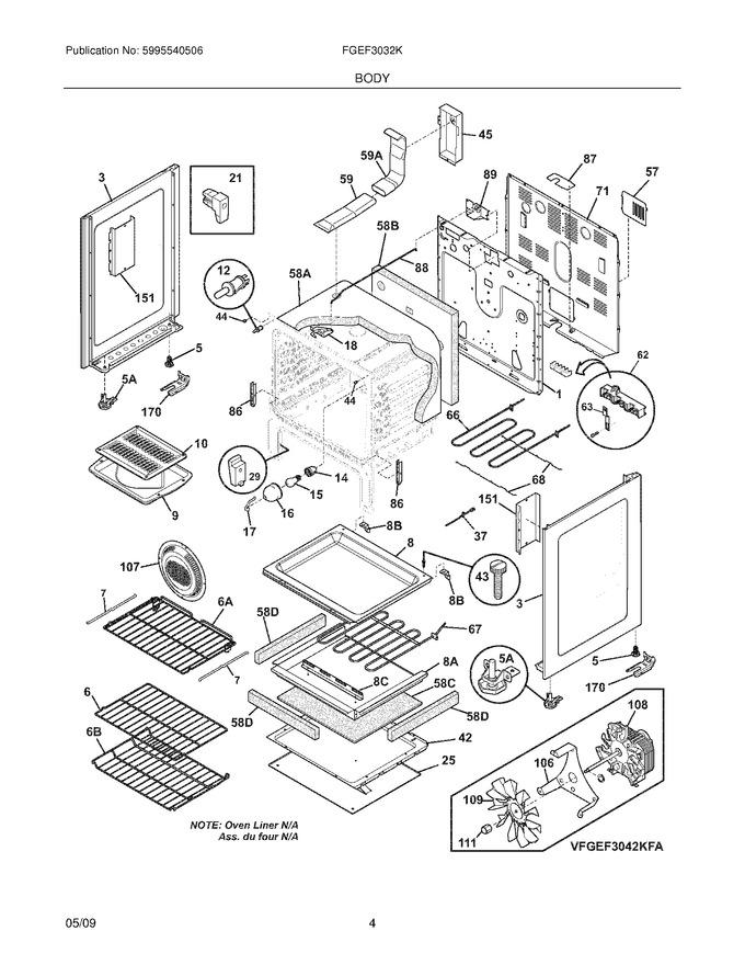 Diagram for FGEF3032KBA