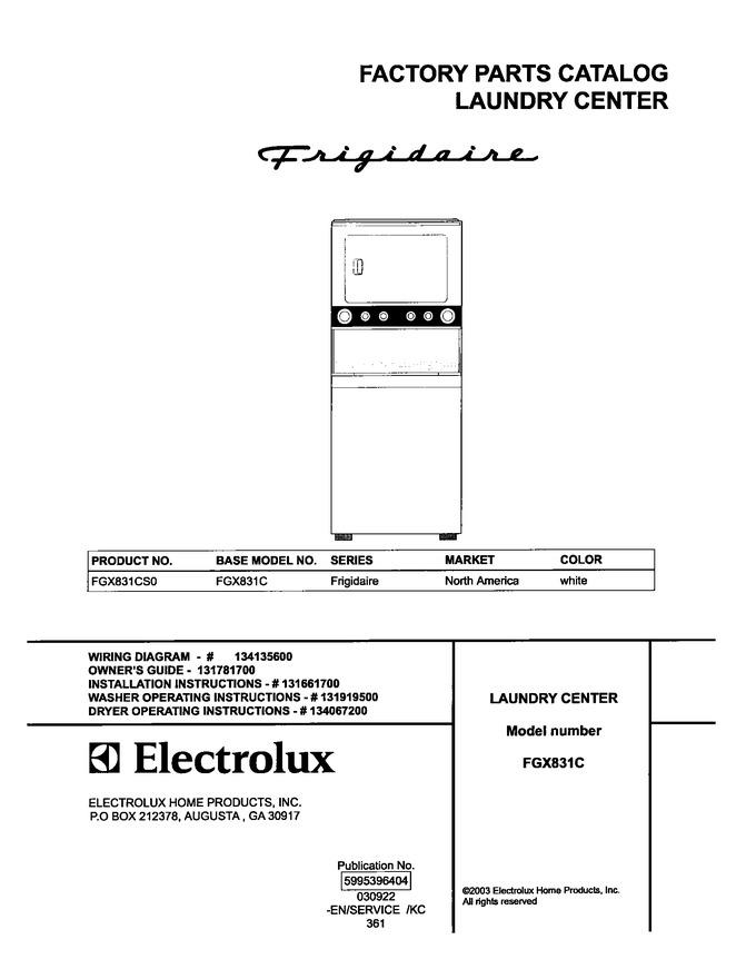 Diagram for FGX831CS0