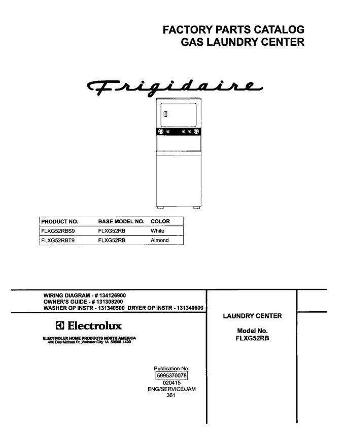 Diagram for FLXG52RBT9