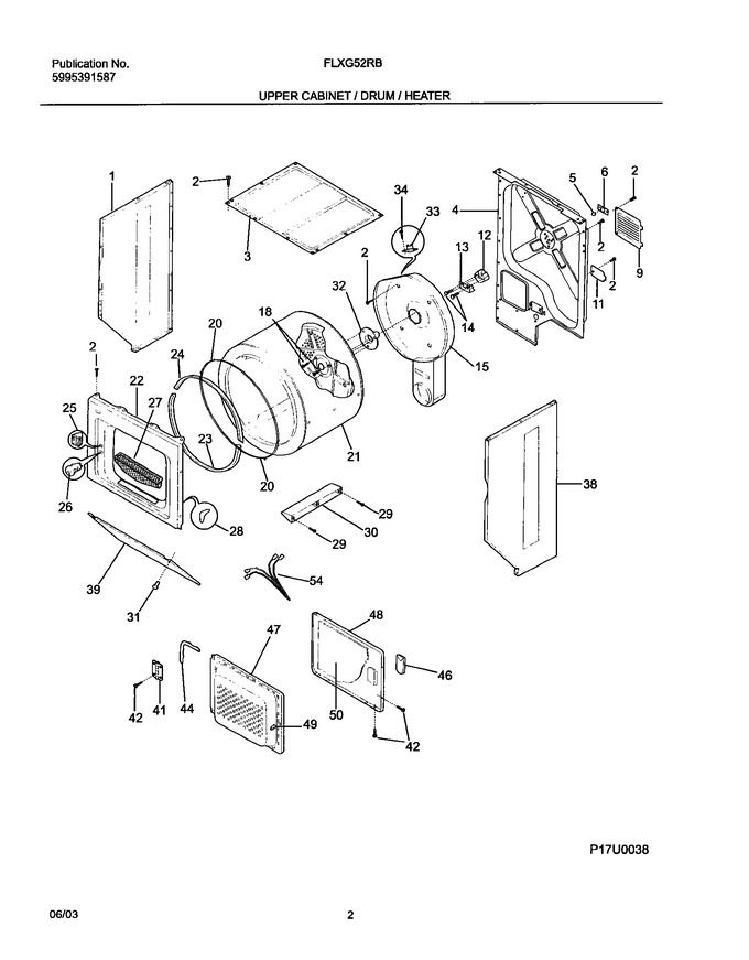 Diagram for FLXG52RBSB