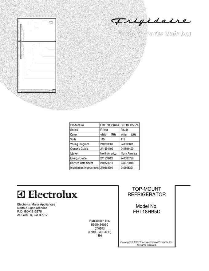 Diagram for FRT18HB5DZA