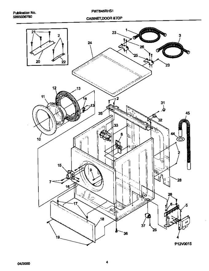 Diagram for FWT645RHS1