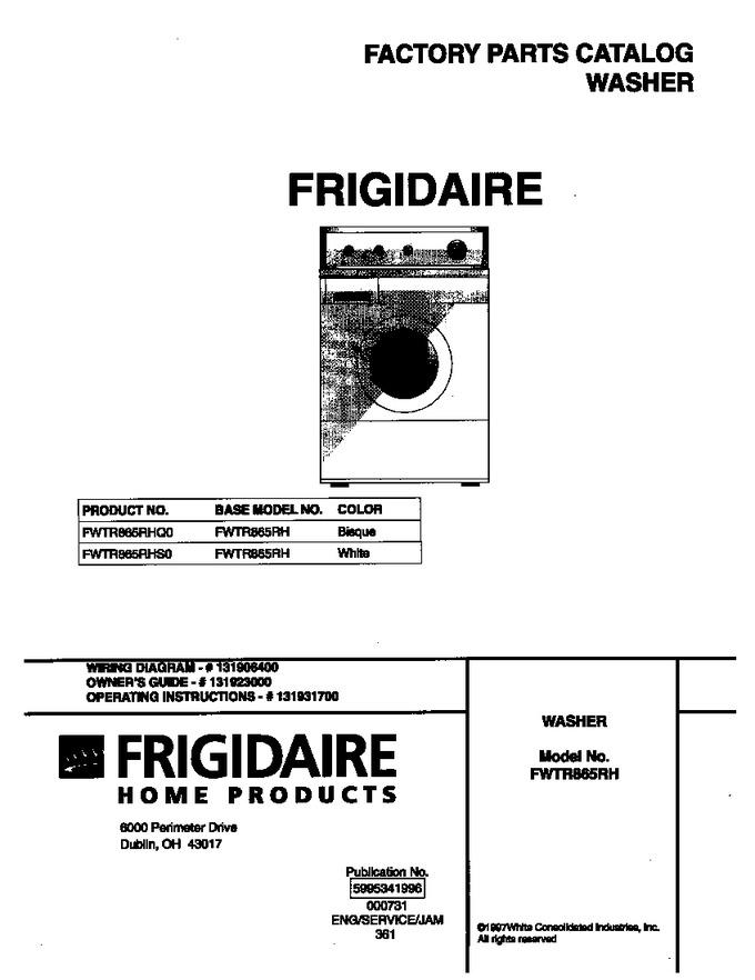 Diagram for FWTR865RHQ0