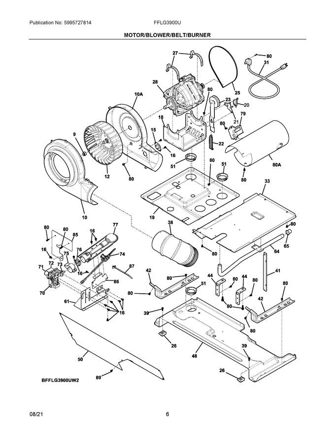 Diagram for FFLG3900UW5