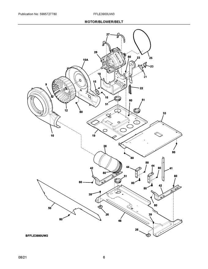 Diagram for FFLE3900UW3
