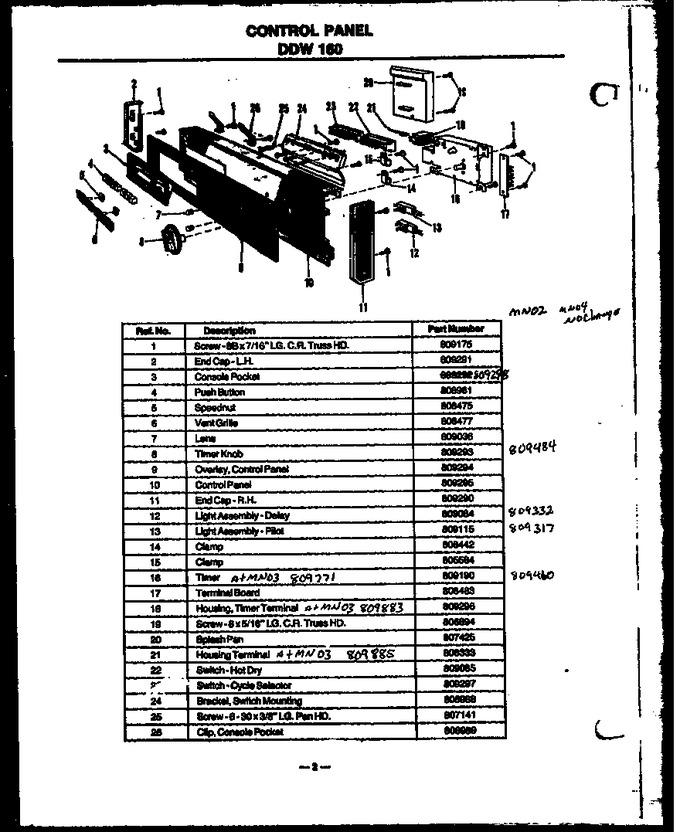 Diagram for DDW160/MN02
