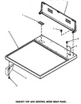 Diagram for 01 - Cabinet Top & Control Hood Rear Panel