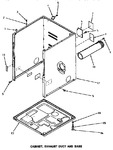 Diagram for 02 - Cabinet, Exhaust Duct & Base