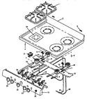 Diagram for 06 - Oven Top Burner Assy