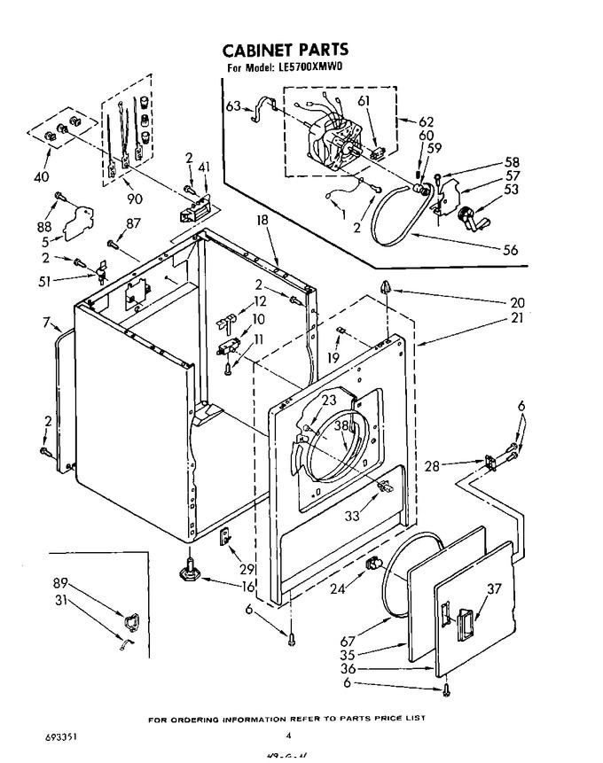 Diagram for LE5700XMW0