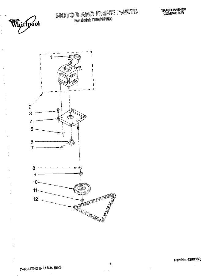 Diagram for TU800SPDB0