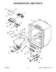 Diagram for 03 - Refrigerator Liner Parts