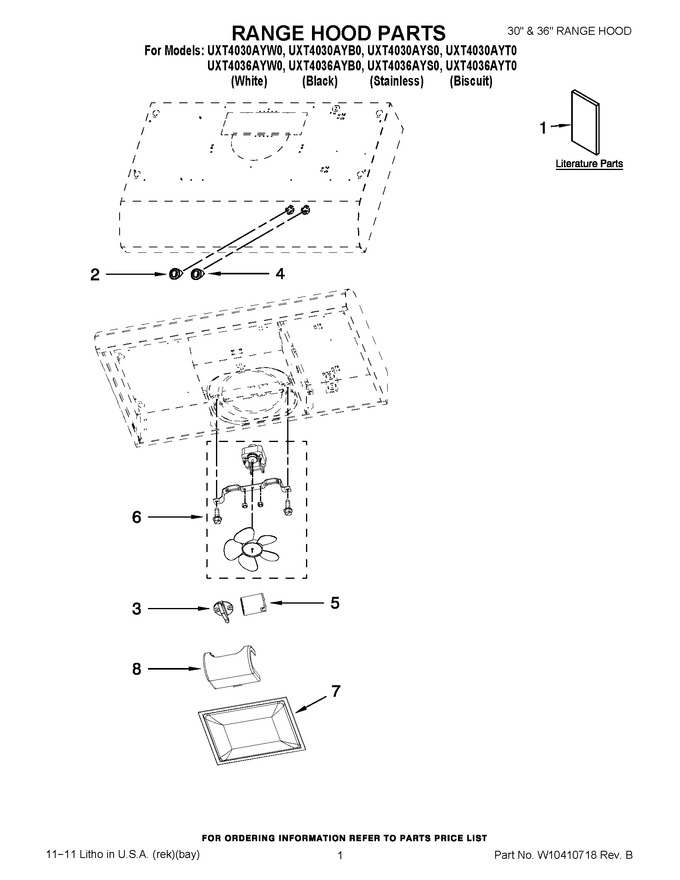 Diagram for UXT4030AYW0