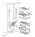 Diagram for 3 - Freezer Shelves