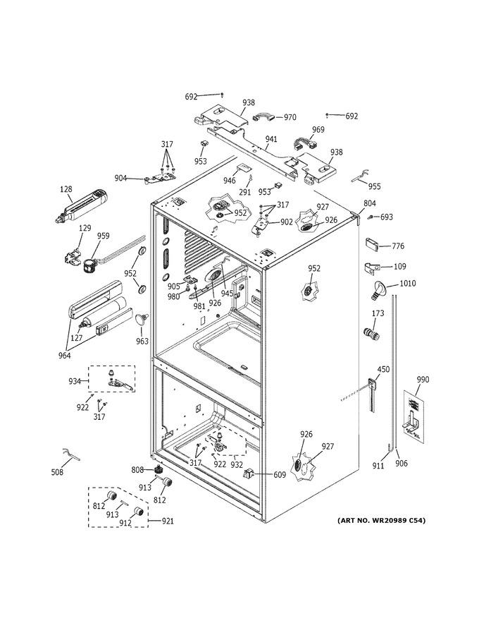 Diagram for PWE23KELFDS