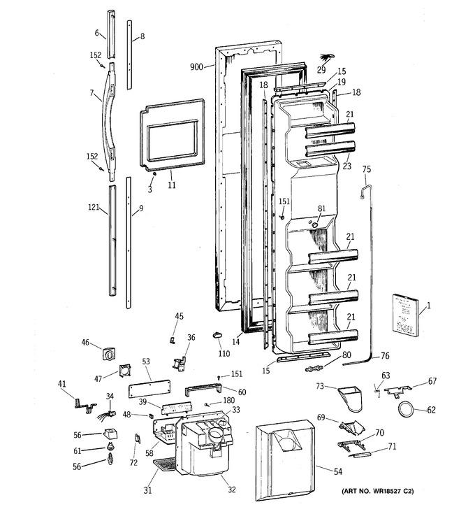 Diagram for TFX25ARBCWW