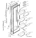 Diagram for 2 - Freezer Door
