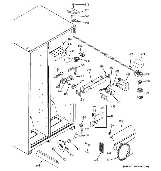 Diagram for GSS25VFPEWW