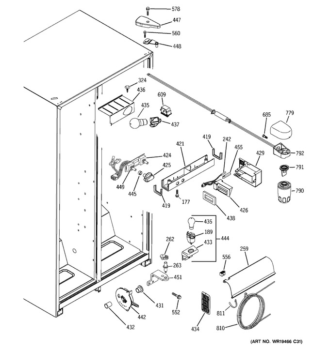 Diagram for GSS25UFPHWW