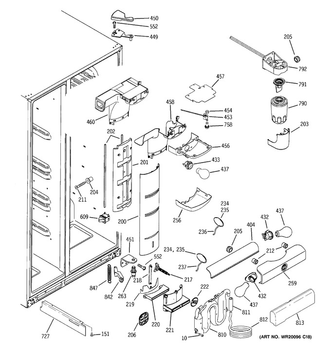 Diagram for GSS25LGTEBB