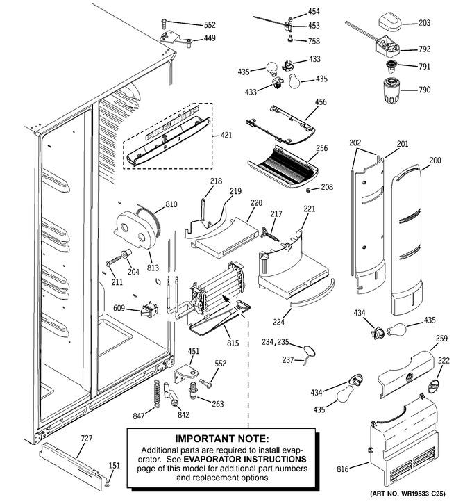 Diagram for PCF25PGTBWW