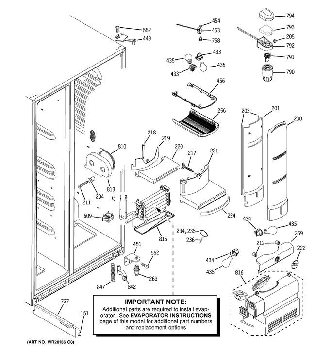 Diagram for PCF23RGWCBB