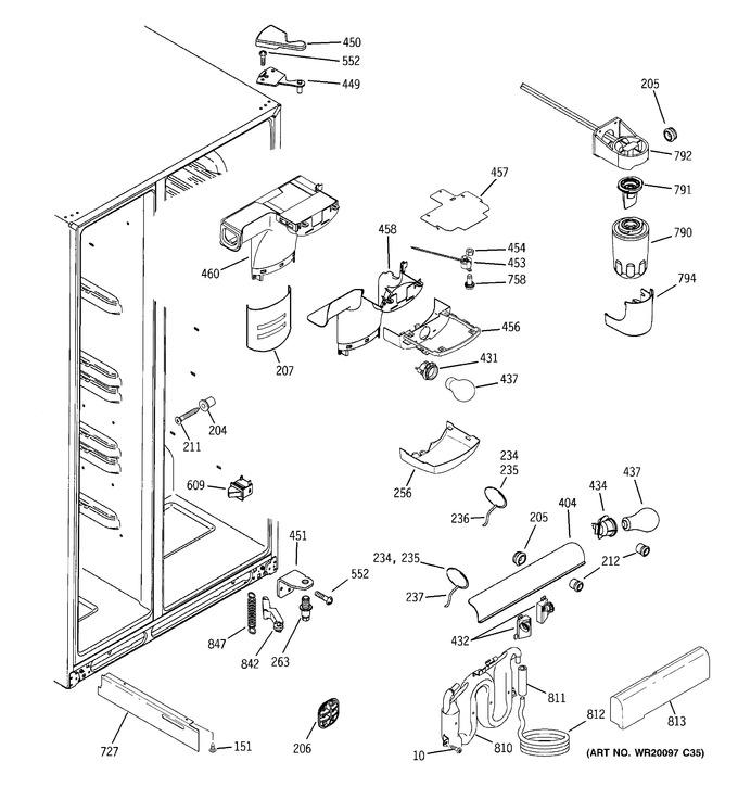 Diagram for GSF25XGWAWW