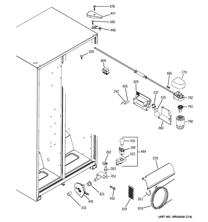 Diagram for BSS25JFTDWW