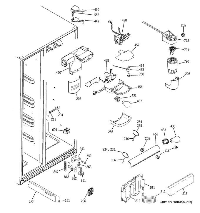 Diagram for GCE23LGWHFWW