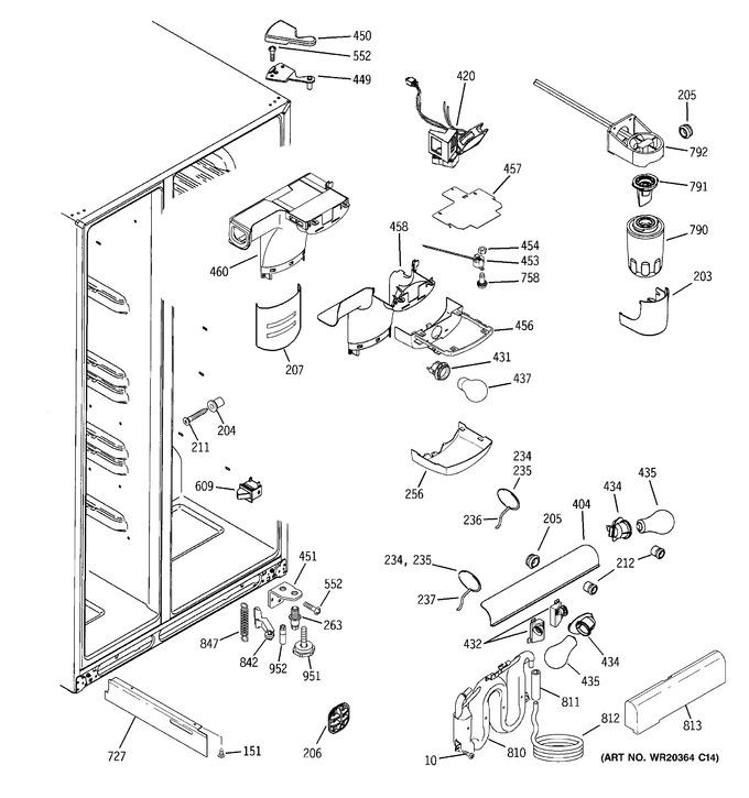 Diagram for GCE23LHWHFWW
