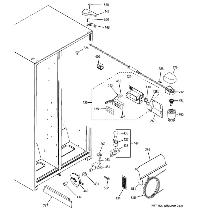 Diagram for GSF25IGXBWW