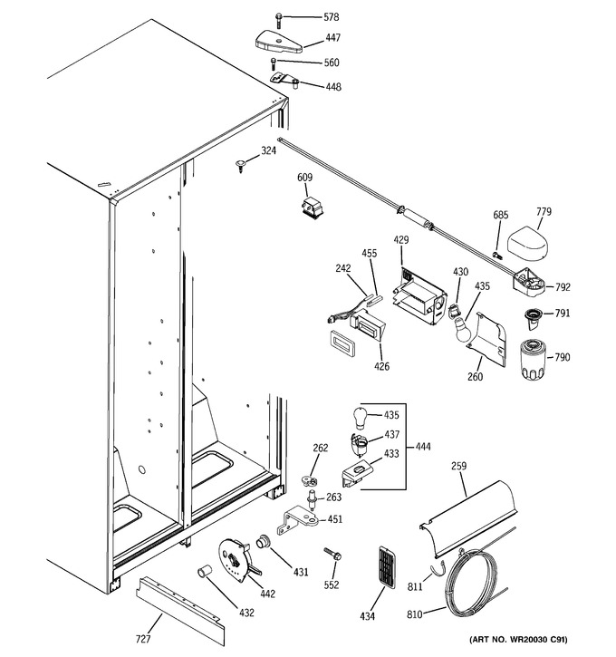Diagram for GSL25JFXBLB