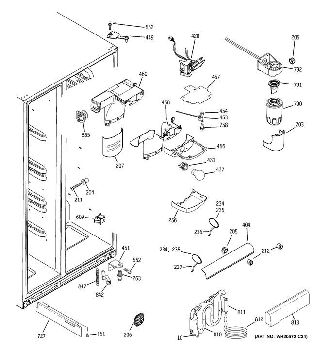 Diagram for GCE23LGYCFNB
