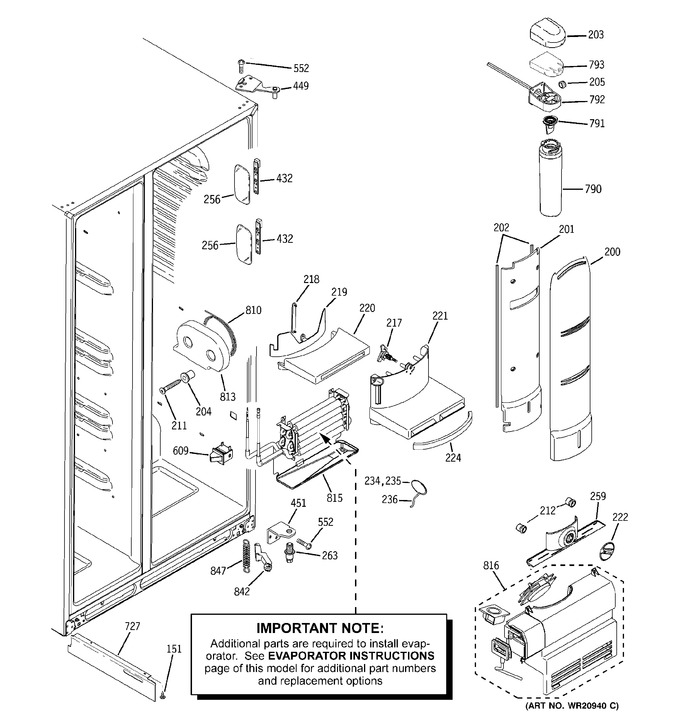 Diagram for RCE25RGBBFSS
