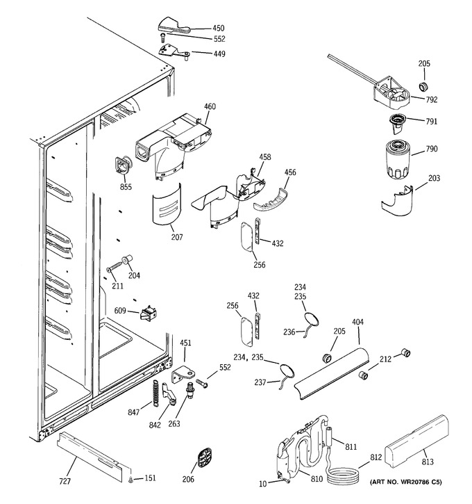 Diagram for DSE26JGECCWW