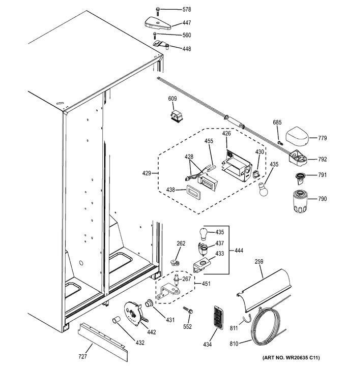 Diagram for GSH25JGDE BB