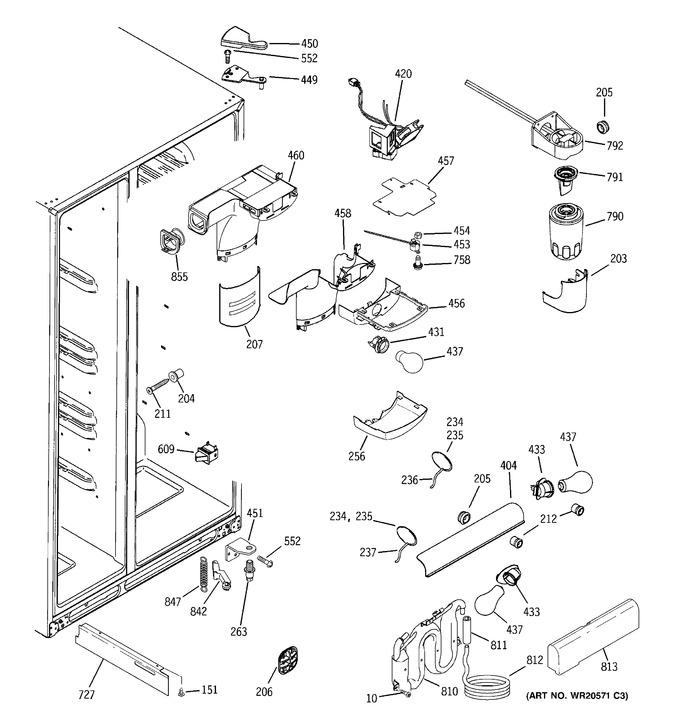 Diagram for GCE21XGYBFLS