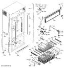 Diagram for 3 - Freezer Section, Trim & Components
