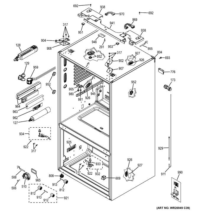 Diagram for GYE22KMHFES