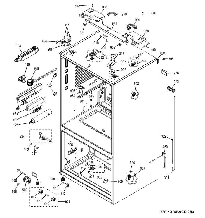 Diagram for GFE28HMHDES