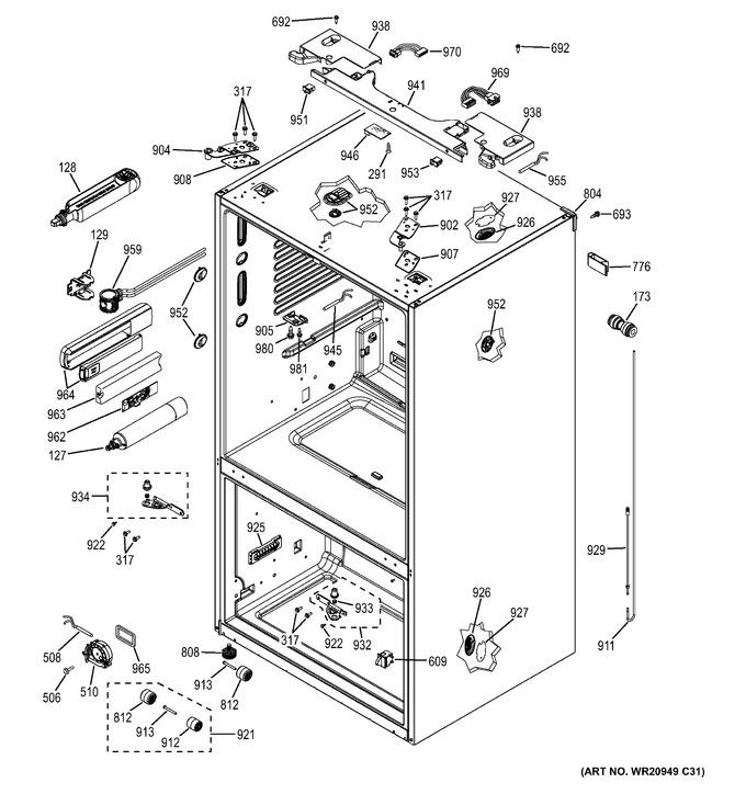 Diagram for GFE26GGHCWW