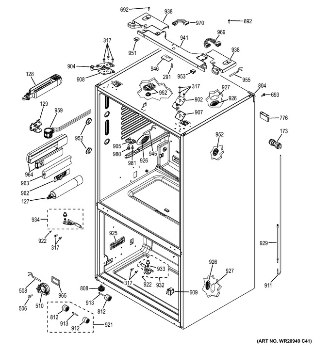 Diagram for GFE26GGHEBB