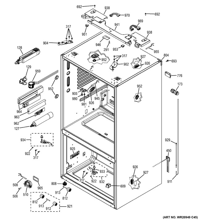 Diagram for GFE28HMHGES