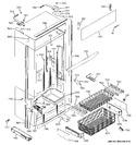 Diagram for 2 - Freezer Section, Trim & Components