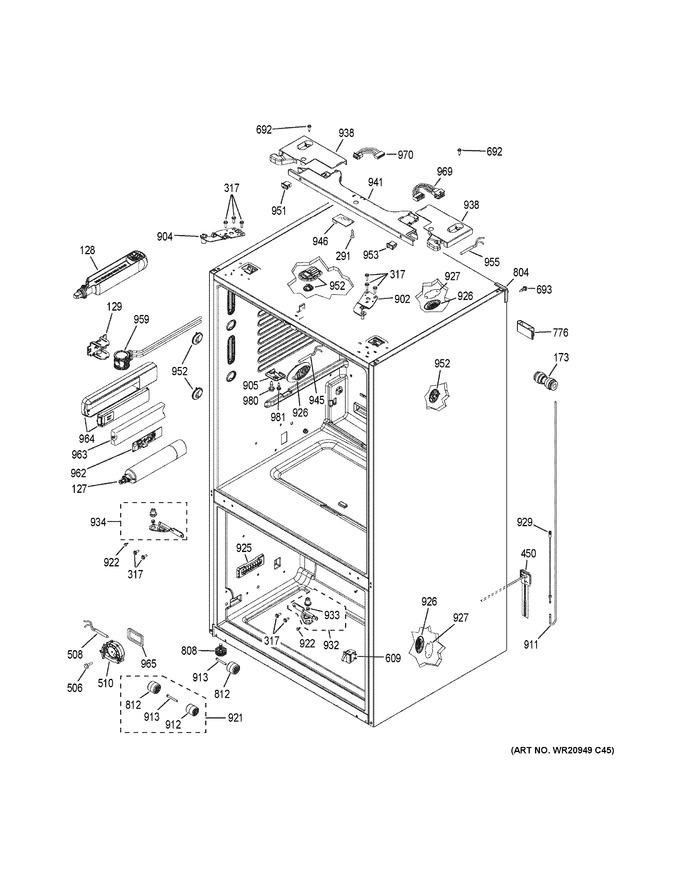 Diagram for GFE28HMKBES