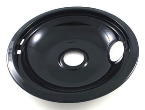 black porcelain whirlpool drip bowl